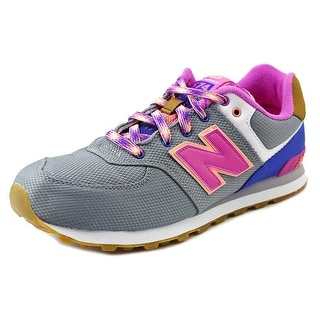 New Balance KL574 Youth Round Toe Synthetic Gray Running Shoe