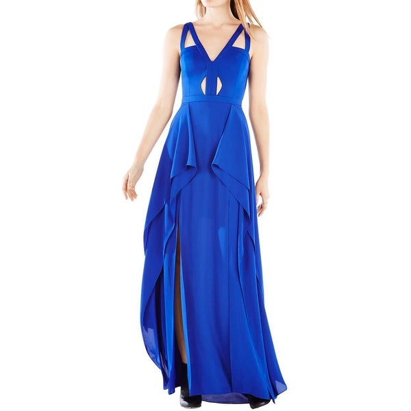 0d5a3e2866b Shop BCBG Max Azria Womens Juliana Formal Dress Chiffon Cut-Out ...