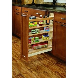 "Rev-A-Shelf 448-BCSC-6C 448 Series 6.5"" Wide Pull Out Base Organizer for 9"" Frameless Full Height Base Cabinet"