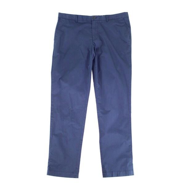 ef3e0b4b Lacoste Mens 30X32 Slim-Fit Flat Chinos Stretch Pants