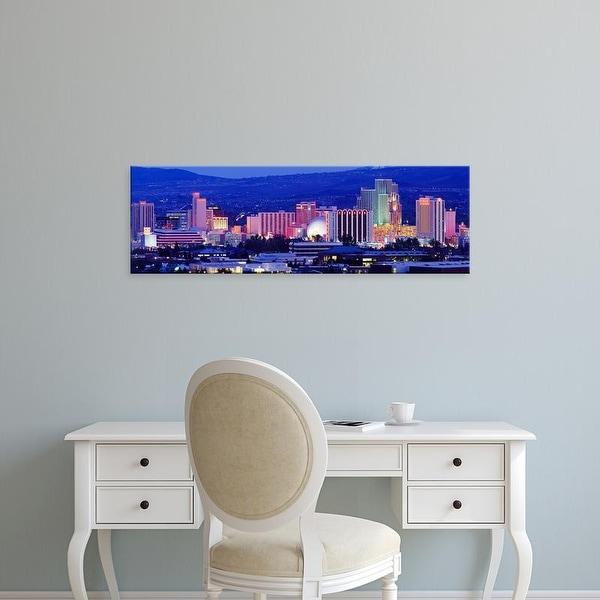 Easy Art Prints Panoramic Images's 'Reno, Nevada, USA' Premium Canvas Art