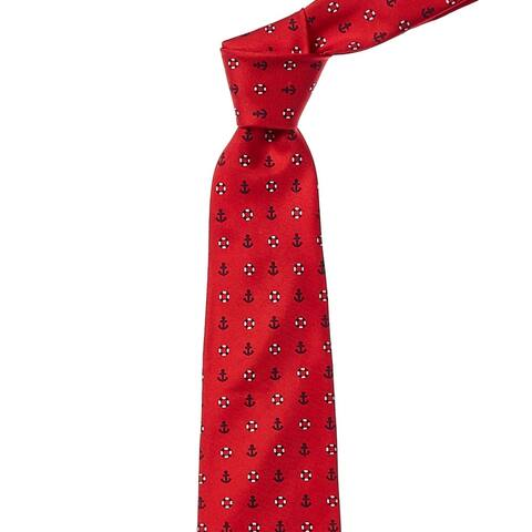Brooks Brothers Red Anchor & Lifesavers Silk Tie - os