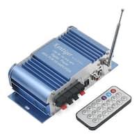 Unique Bargains 2 Channel Hi-Fi FM Radio Audio Stereo Power Amplifier for Car Motor Boat Home