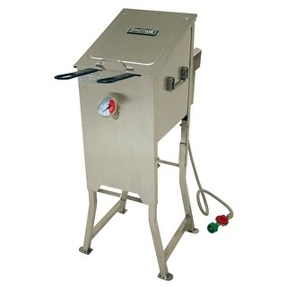 Bayou Classic Stainless Steel 2 5 Gallon Fryer Free