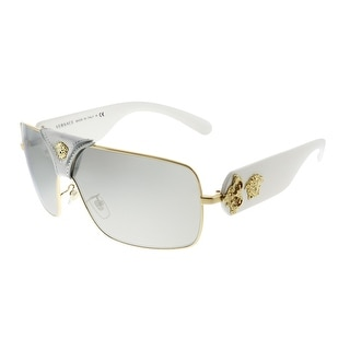 Link to Versace Squared Baroque VE 2207QA 10026G Unisex Gold White Frame Silver Mirror Lens Sunglasses Similar Items in Women's Sunglasses