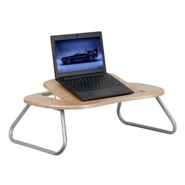 Malcom Angle Adjustable Laptop Desk w/Natural Top