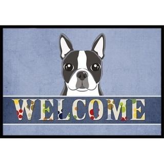 Carolines Treasures BB1389JMAT Boston Terrier Welcome Indoor & Outdoor Mat 24 x 36 in.