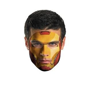 Iron Man Face Tattoo Costume
