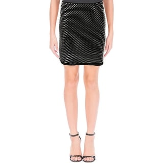 French Connection Womens A-Line Skirt Embellished Stretch