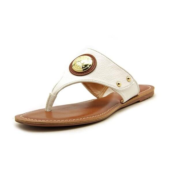Tommy Hilfiger Lelani Women  Open Toe Synthetic White Thong Sandal