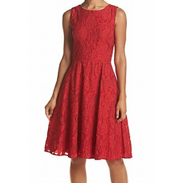 2a97bdd9 Shop Tommy Hilfiger NEW Red Women Size 10 Floral Fit Flare Lace Sheath Dress  - Free Shipping Today - Overstock - 20517372