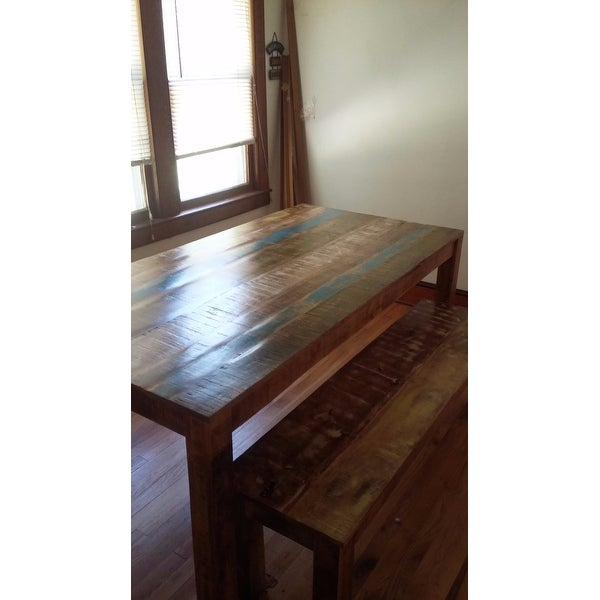 Shop Handmade Timbergirl Suman Rustic Multicolor Dining Table (India)    Free Shipping Today   Overstock.com   12590495
