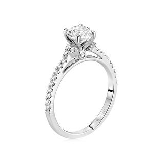 14kt White Gold 0.24CTW Semi Mount Ladies Engagement Ring from the Radiance Collection by Scott Kay
