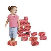 Childcraft Corrugated Blocks, Large, Red, Set of 16