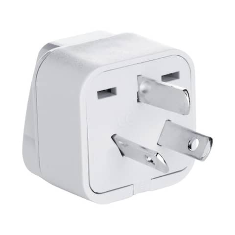 Conair NWG2C Travel Smart Grounded Adapter Plug, Plastic, Grey