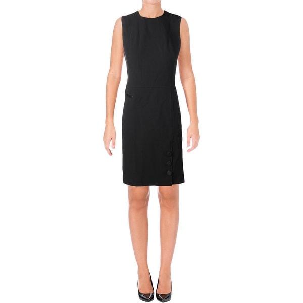 Shop Anne Klein Womens Skater Dress Button Detail Fit