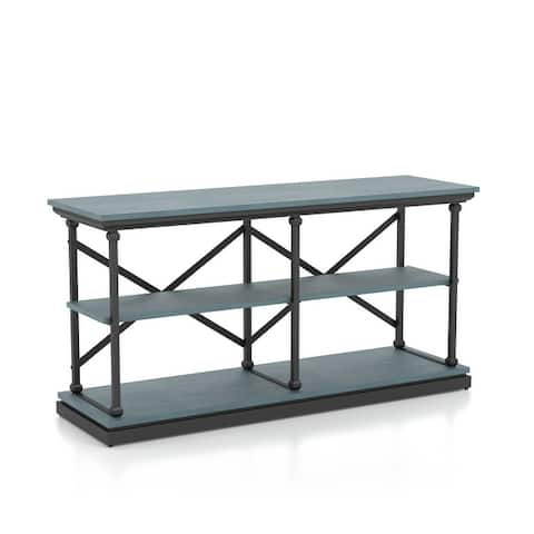 Furniture of America Marcin Transitional Shelf Base Console Table