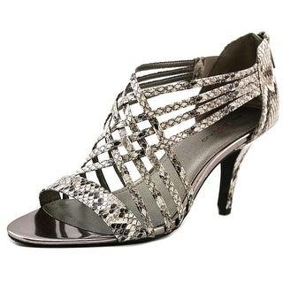 Bandolino Mellona Women Open-Toe Synthetic Gray Slingback Heel