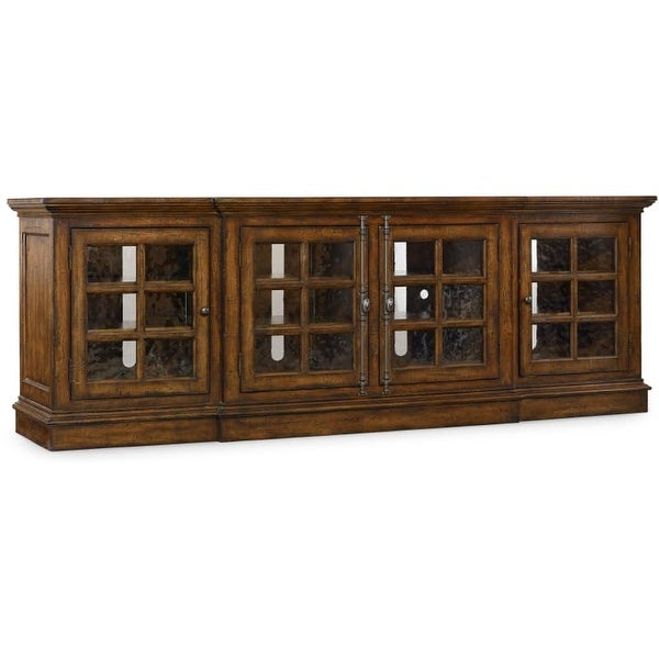 Hooker Furniture 5302 55492 92 Inch Wide Rubberwood Media Cabinet From The  Brant   N