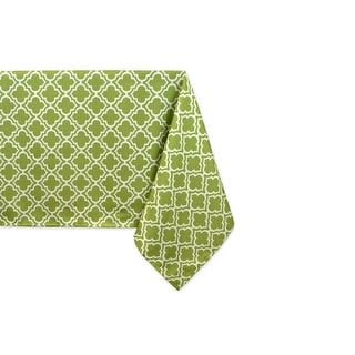 "Fresh Spring Green Lattice Zippered Rectangular Umbrella Tablecloth 84"" x 60"""