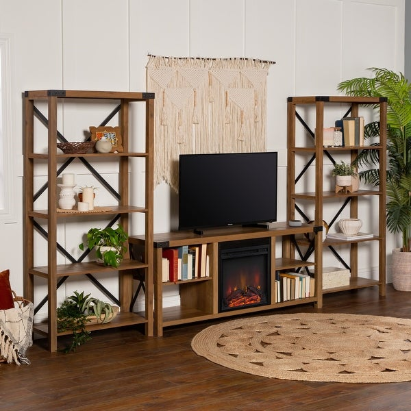 The Gray Barn Kujawa 60-inch Fireplace Entertainment Wall. Opens flyout.