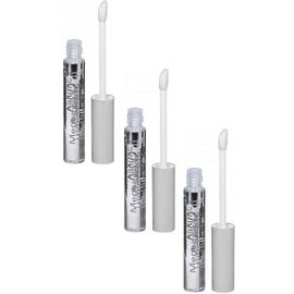 Wet n Wild Mega Slicks Lip Gloss, Crystal Clear [561A], 3 pack