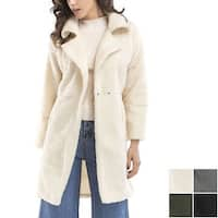 Long Sleeve Wool Coat Lapel Jacket Outerwear