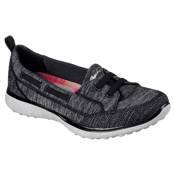 Skechers 23317 BKGY Women's MICROBURST-TOPNOTCH Walking