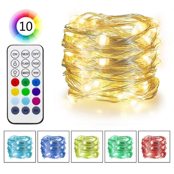 RGB & Warm White Color Changing LED Fairy Lights - Medium. Opens flyout.