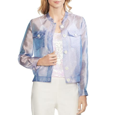 Vince Camuto Womens Blazer Iridescent Long Sleeves