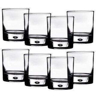 a246fbe811d Home Essentials Red Series 10 oz. Bubble-Bottomed Round Cut Drinking Glasses  - Set
