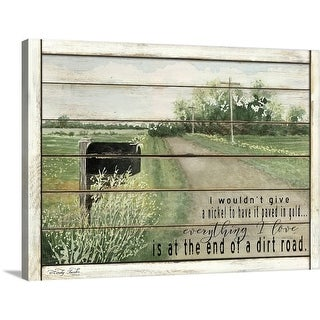 """""""The End of a Dirt Road"""" Canvas Wall Art"""