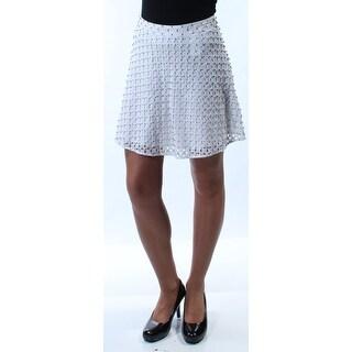 MICHAEL KORS $195 Womens New 8931 White Rhinestone Mini A-Line Skirt 0 B+B