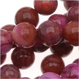 Pink Crazy Lace Agate (D) 6mm Round Gemstone Beads (15.5 Inch Strand)