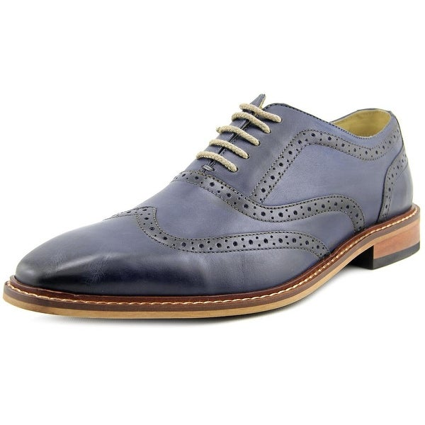 Giorgio Brutini Rant Men  Wingtip Toe Leather Blue Oxford