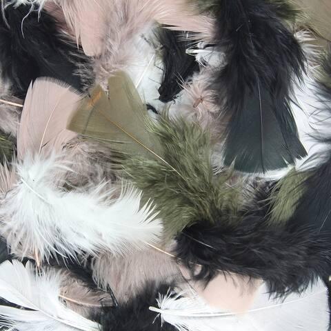 Chenille kraft (12 pk) asst quill feathers natural 450008bn