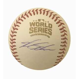 Kyle Schwarber Autographed Cubs 2016 World Series Signed Baseball MLB AUTHENTICATED 4