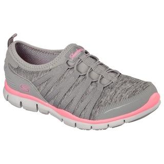 Skechers Women's Gratis Shake It Off Sneaker, Gray/Pink