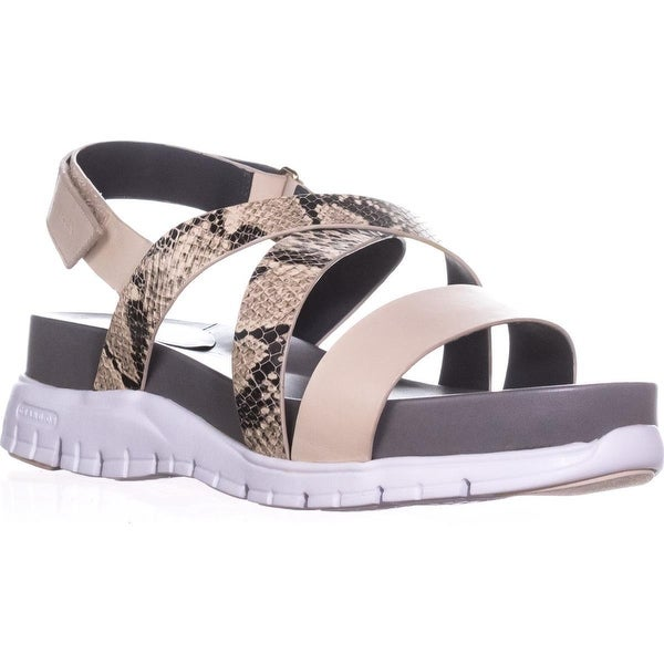 37d4cfb2b Cole Haan Zerogrand Criss Cross Gladiator Sandals, Roccia/Sandshell/White