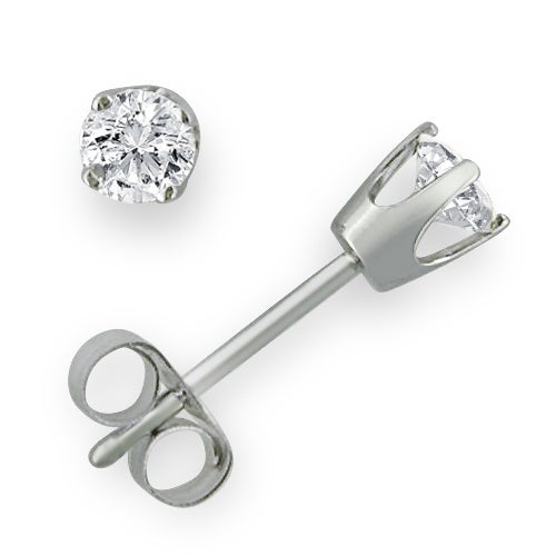 Amanda Rose 1/3ct tw Diamond Stud Earrings in 14K White Gold
