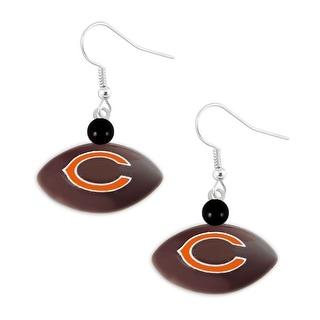 Chicago Bears Mini Football Dangle Earring