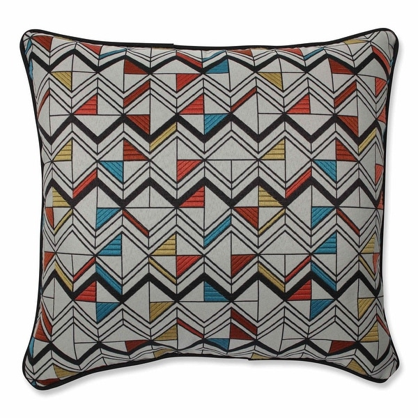 16.5 Multicolored Geometric Pattern Decorative Throw Pillow with Sewn Seam Closure