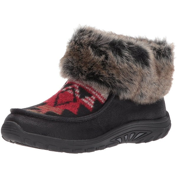 Skechers Womens Reggae Fest Closed Toe Ankle Cold Weather Boots