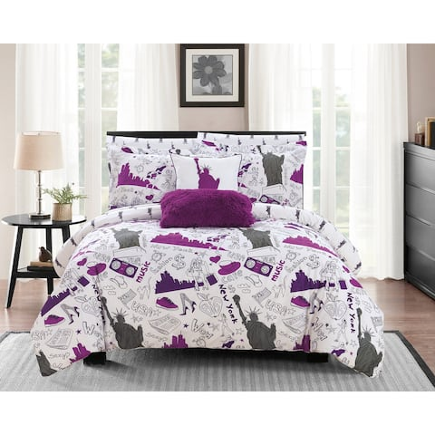Chic Home Ellis 9 Piece Reversible New York Inspired Comforter Set