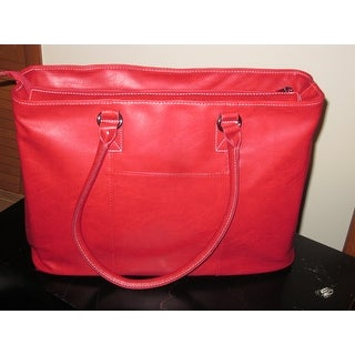 Kenneth Cole Reaction Pebbled Faux Leather Single Compartment Top Zip Womens 16-inch Laptop Business Tote