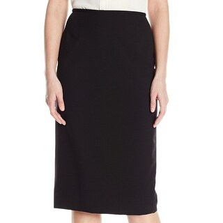 Tahari by ASL Black Womens Size 6P Petite Straight Pencil Skirt