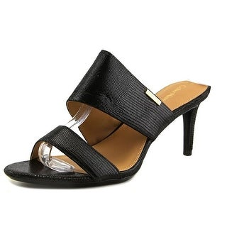 Calvin Klein Lanoe Women Open Toe Synthetic Black Sandals