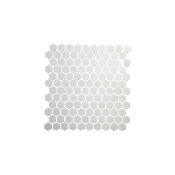 "Daltile UP1HEXMSP1S Uptown Glass - 1"" x 1"" Hexagon Mosaic Wall & Floor Tile - Smooth Glass Visual"