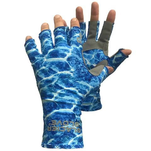 Glacier Glove Islamorada Fingerless Sun Gloves - Blue Water Camo