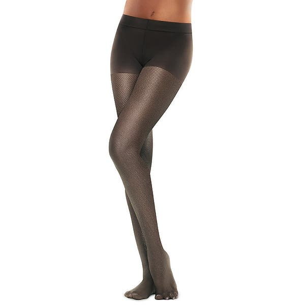 a2061eaf035 Hanes Perfect Nudes™ Sheer Micro Net Girl Short Tummy Control Hosiery - Size  - 3 4X - Color - True Black